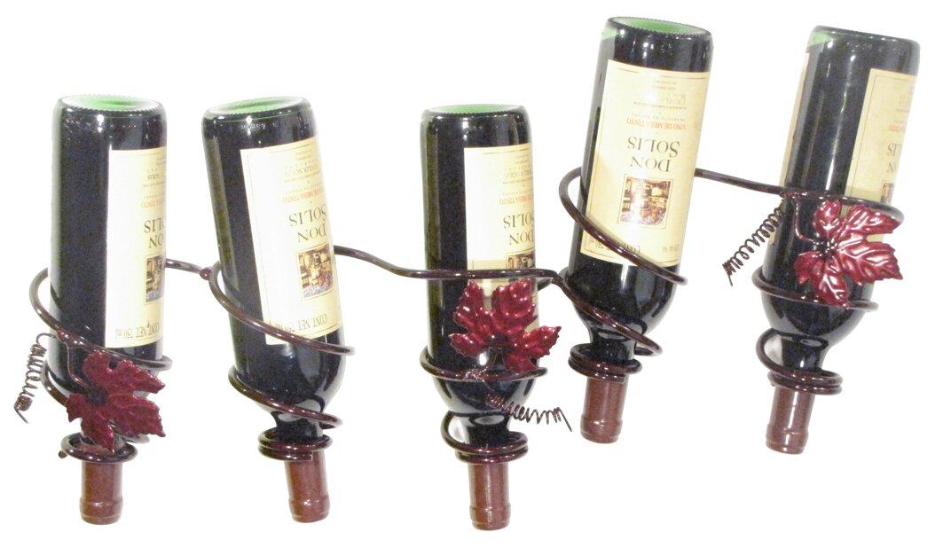 Grapevine 5 Bottle Wall Mounted Wine Rack