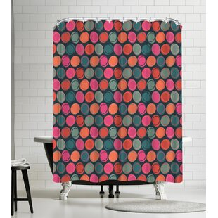 Frankie Van Mourik Crayon Spots Single Shower Curtain