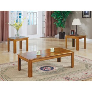 Chesser 3 Piece Coffee Table Set by Loon Peak Best Design
