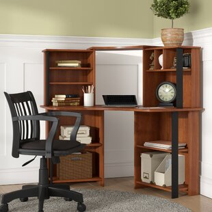 Hibbler Corner Computer Desk with Hutch