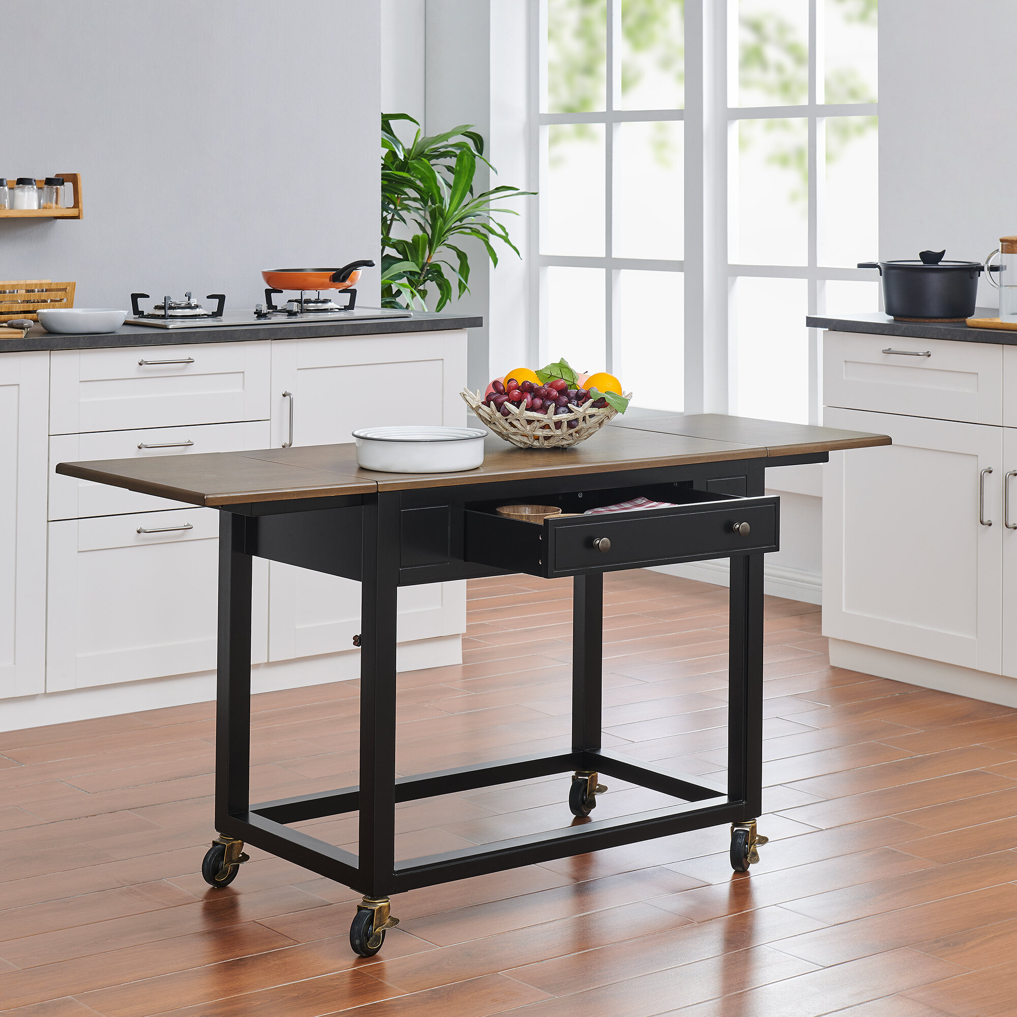 Amazon.com: Origami Folding Kitchen Cart on Wheels | for Chefs ... | 2000x2000