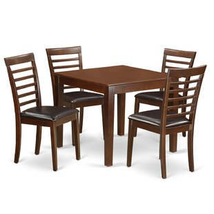 Cobleskill Faux Leather 5 Piece Dining Set