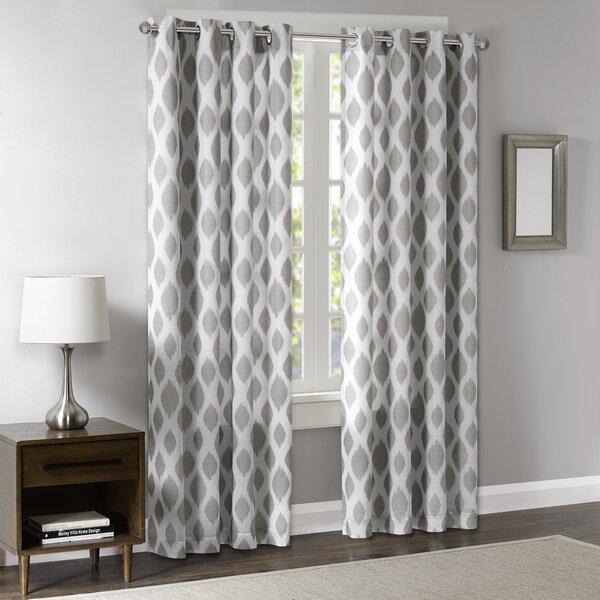 three posts schmitt ikat blackout grommet single curtain panel u0026 reviews wayfair