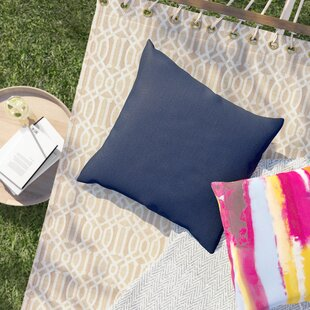Crispin Sunbrella Solid Outdoor Throw Pillow