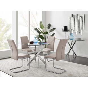 Caba Dining Set with 4 Chairs
