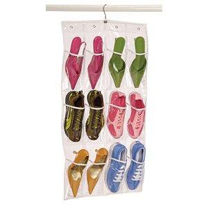 Find Clear Vinyl Storage 12-Pocket 6 Pair Hanging Shoe Organizer ByRichards Homewares