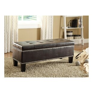 Himes Lift Top Faux Leather Storage Bench