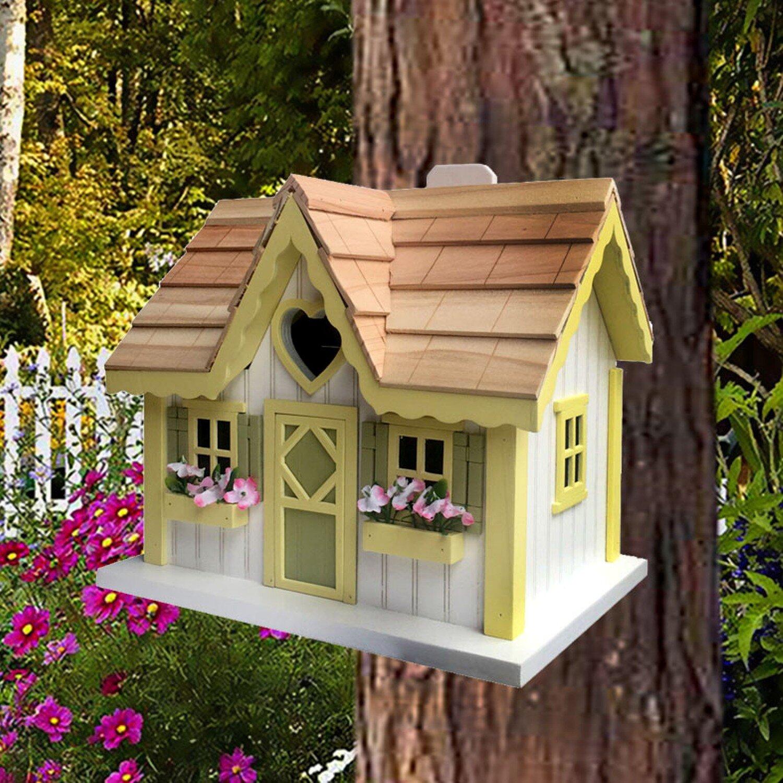 Outdoor Use White Cream Bird Houses You Ll Love In 2021 Wayfair
