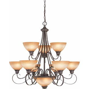 Volume Lighting Altamonte 11-Light Shaded Chandelier