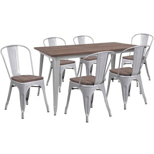 Proffitt 7 Piece Solid Wood Dining Set Williston Forge