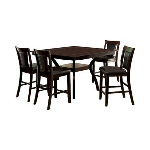 Wilburton 5 Piece Pub Table Set