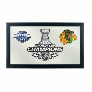 Trademark Global NHL Chicago Blackhawks 2015 Stanley Cup Wall Mirror