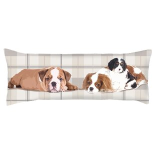 Costal Exquisite Three Dogs Lumbar Pillow