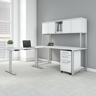 400 Series L-Shaped Desk Office Suite by Bush Business Furniture Discount