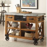 Whyte Wood Kitchen Cart by Loon Peak®