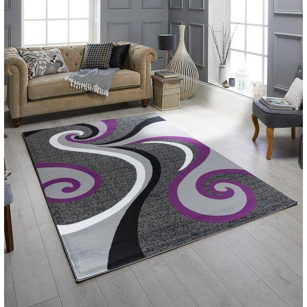 Orren Ellis Loria Power Loom Purple Gray Rug Reviews Wayfair