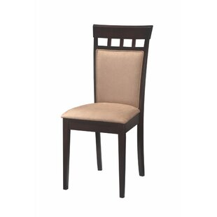 Hoehn Back Panel Upholstered Dining Chair (Set of 2) Winston Porter