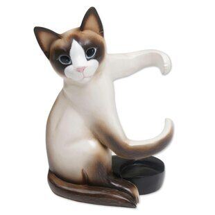 Moton Cat Hug Tabletop Wine Bottle Rack b..