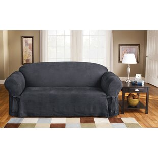 Soft Suede Box Cushion Sofa Slipcover