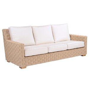 Kingsley Bate St Barts Teak Patio Sofa With Cushions
