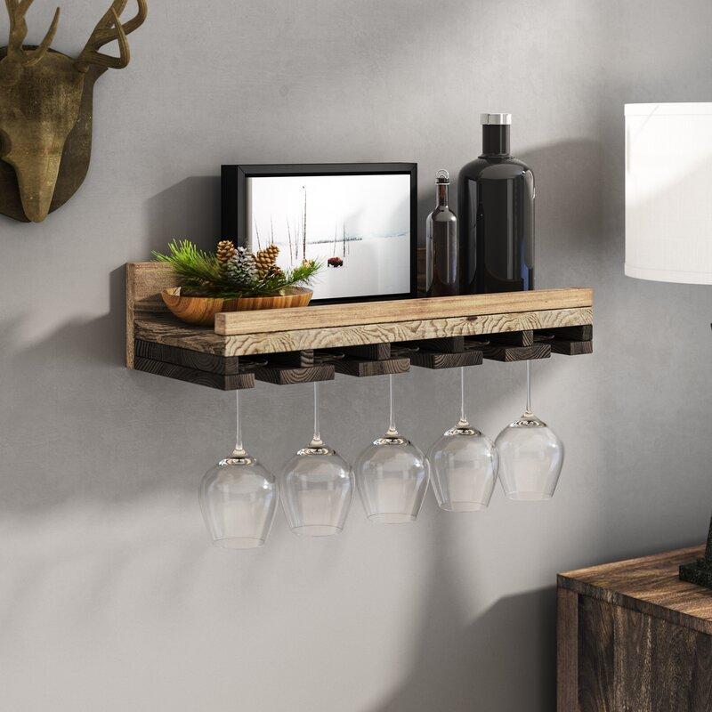Oconner Wall Mounted Wine Gl Rack