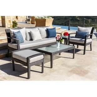 Brayden Studio Beam 5 Piece Sunbrella Sofa Seating Group with Cushions