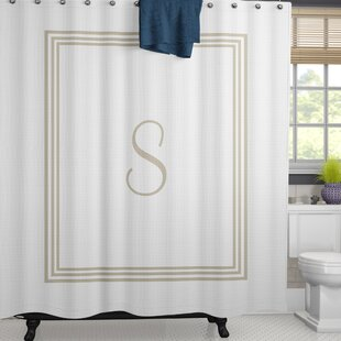 Lebofsky Classic Monogrammed Fabric Single Shower Curtain