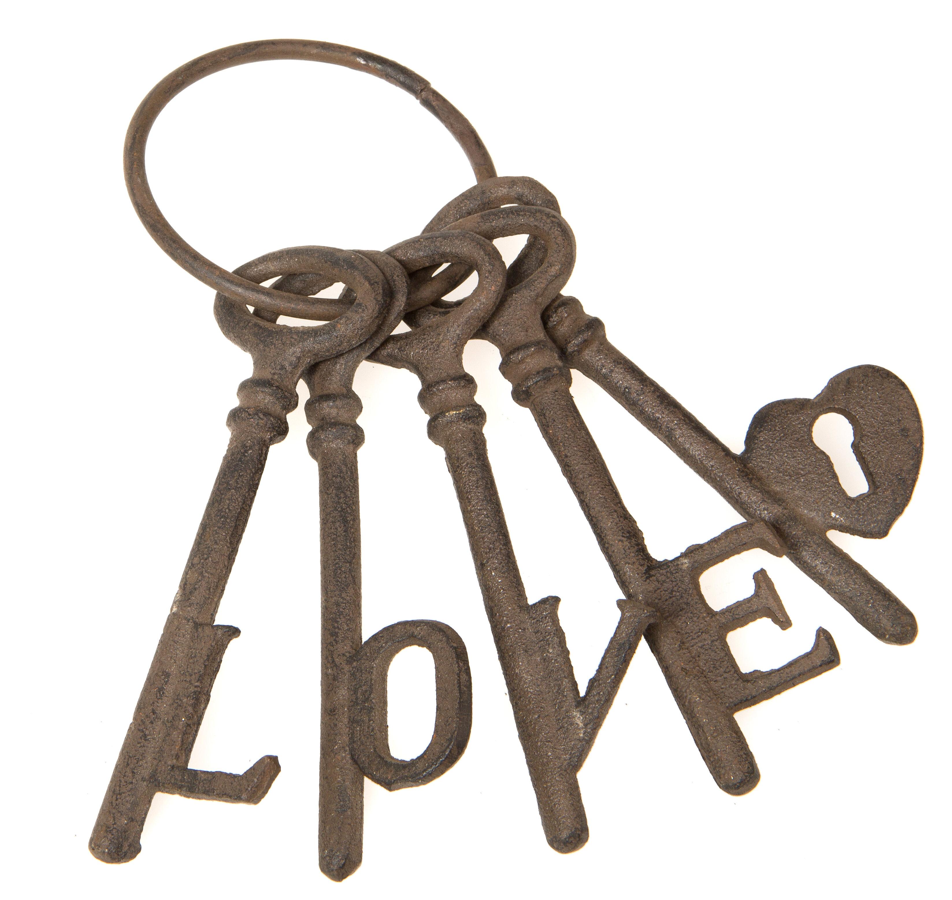 Ophelia Co 5 Piece Cast Iron Love Keys Wall Décor Set Reviews Wayfair