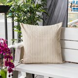 Raymore  Striped Outdoor Rectangular Throw Pillow (Set of 2)