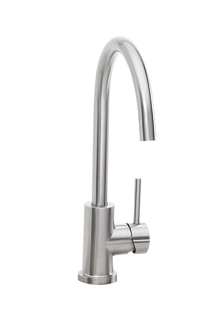 Gooseneck Single Hole Outdoor Kitchen Faucet