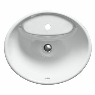 Price Check Tides Metal Oval Drop-In Bathroom Sink with Overflow ByKohler