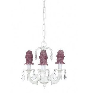 Stacked 3-Light Shaded Chandelier by Jubilee Collection