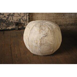 Bayaud Recycled Canvas Globe Pouf Ottoman