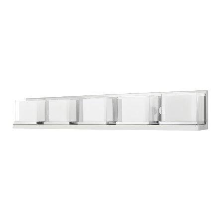 Harmoni 5 - Light Dimmable Polished Chrome Bath Bar