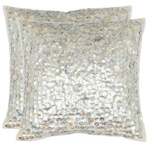 Rebekah 100% Cotton Throw Pillow (Set of 2)