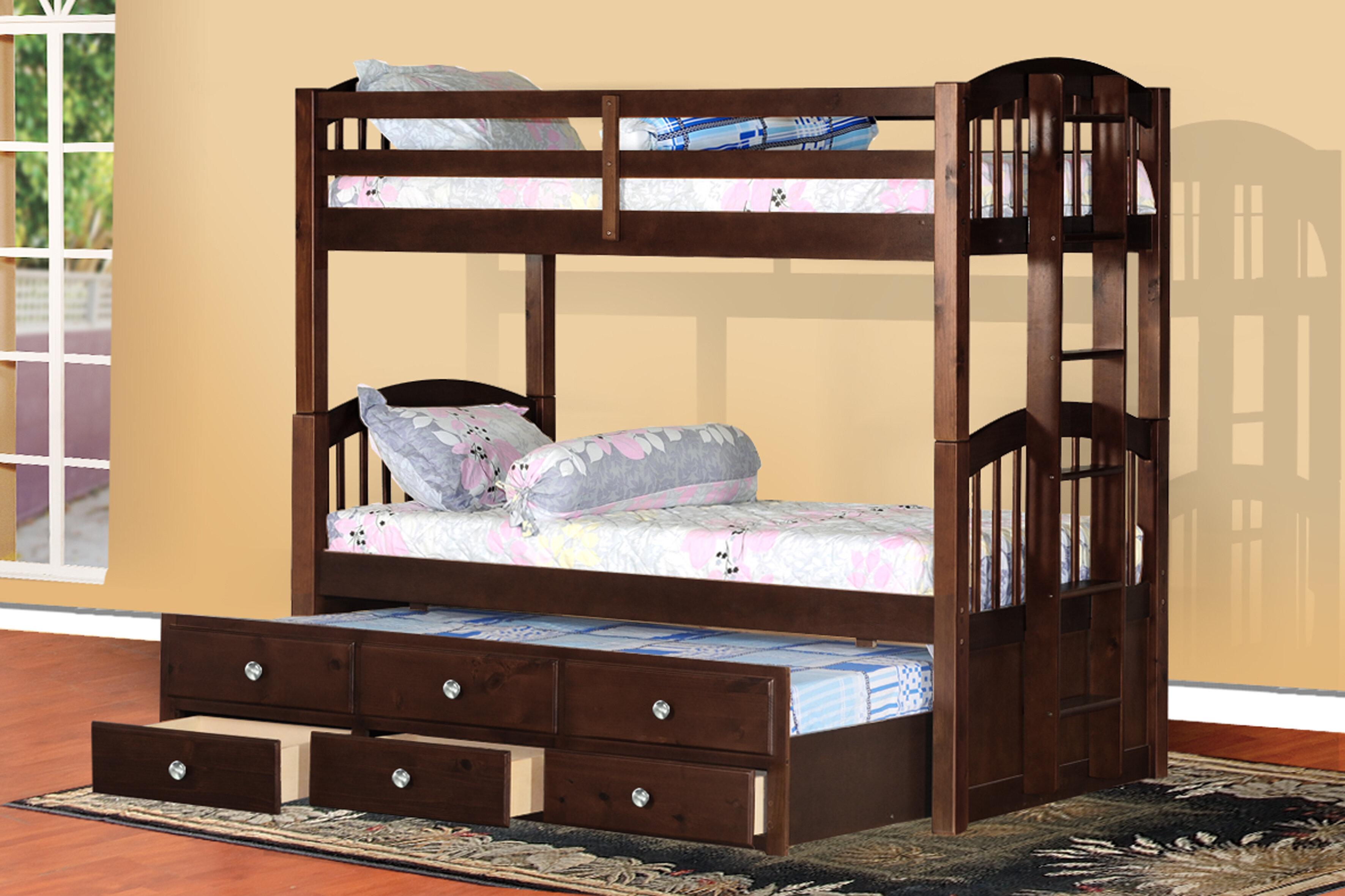 Viv Rae Bernard Twin Bunk Bed With Drawers Wayfair