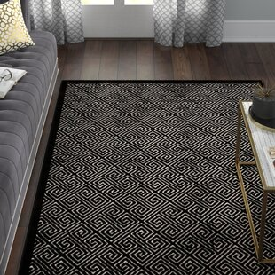 Inexpensive Blondelle Black Area Rug By Willa Arlo Interiors