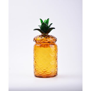 Glass Pineapple Kitchen Canister