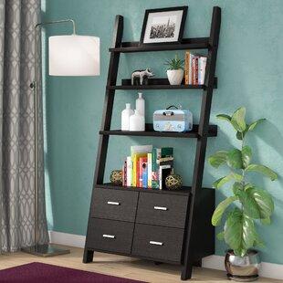 Berkman Dark Cappuccino Ladder Bookcase Zipcode Design