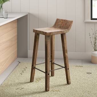 Fabulous Borgen 27 5 Bar Stool Reviews Allmodern Unemploymentrelief Wooden Chair Designs For Living Room Unemploymentrelieforg