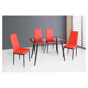 Linette 5 Piece Dining Table Set