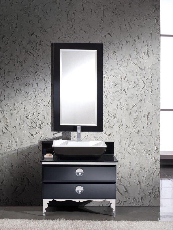 "Bathroom Vanity Glass fresca moselle 36"" single modern glass bathroom vanity set with"