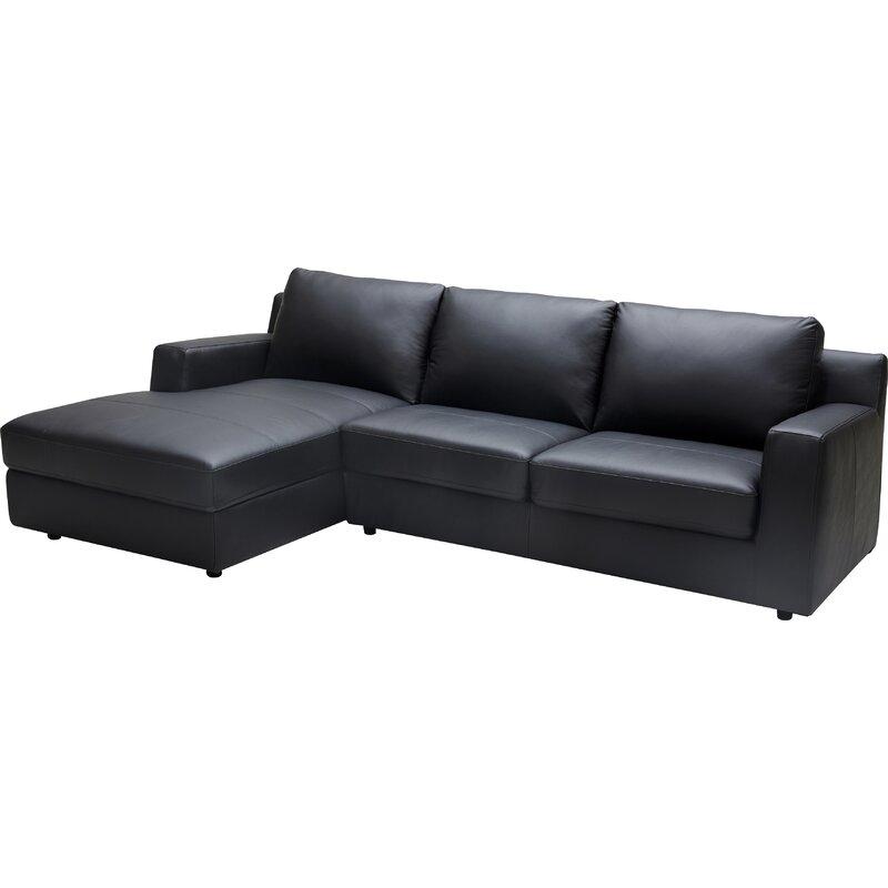 Orren Ellis  Arguello Leather Sleeper Sectional