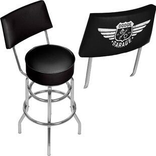 Dodge Garage 31 Swivel Bar Stool Trademark Global