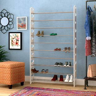 Best Review 10-Tier Plastic 50 Pair Shoe Rack By Rebrilliant