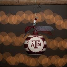 Texas A and M Stripe Ball Ornament ByGlory Haus