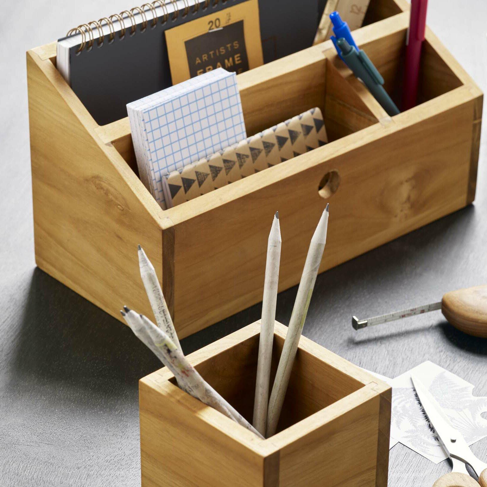 Union Rustic Loredana Supplier Desk Organizer Reviews Wayfair