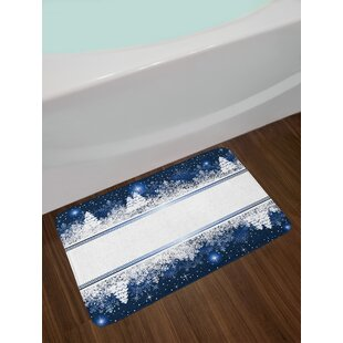 Christmas Frosty Winter Bath Rug