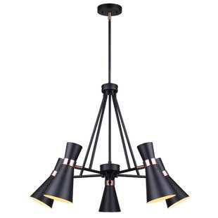 Coccia 5-Light Shaded Chandelier by Everly Quinn