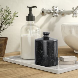 Hansell Marble Spa Storage Jar By Greyleigh